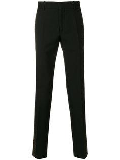 брюки с узорчатыми лампасами Alexander McQueen