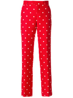 брюки строгого кроя с рисунком из звезд Maison Kitsuné