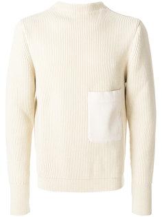 трикотажный свитер с накладным карманом Lemaire