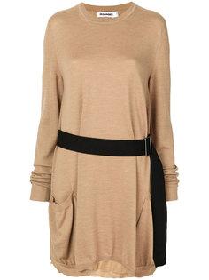 платье с поясом Jil Sander