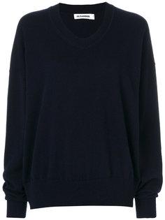 пуловер с V-образным вырезом Jil Sander