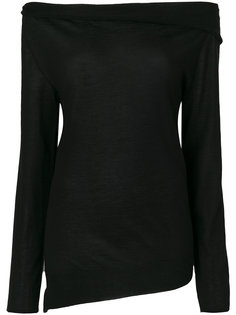 свитер с вырезом-лодочка Jil Sander