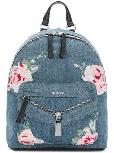 джинсовый рюкзак с вышивкой Diesel