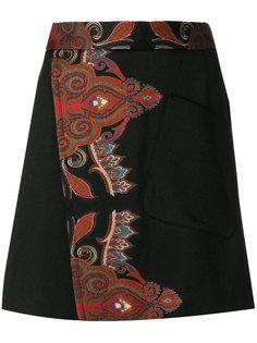 юбка А-образного силуэта с запахом Etro