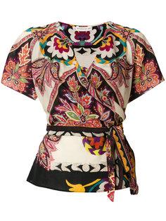 блузка с запахом с принтом Etro