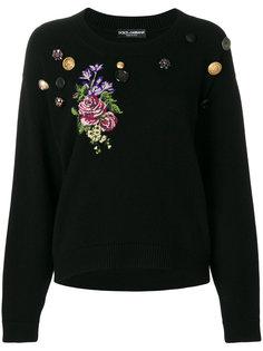 джемпер с вышивкой  Dolce & Gabbana
