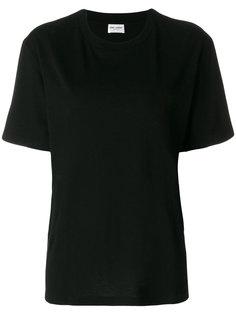футболка свободного кроя с принтом кота Saint Laurent