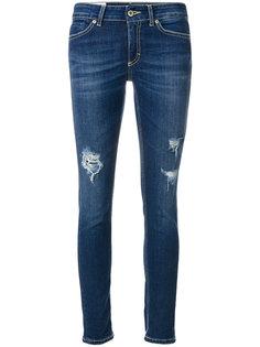 состаренные укороченные джинсы  Dondup