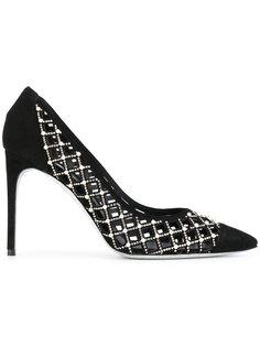 туфли-лодочки с вырезным дизайном и украшением из кристаллов René Caovilla