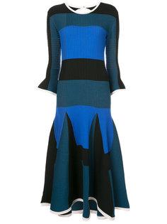 асимметричное полосатое платье  Roksanda