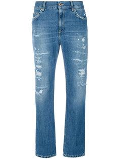 укороченные состаренные джинсы  Dondup