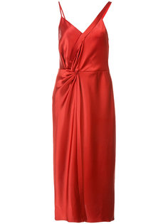 атласное платье миди T By Alexander Wang