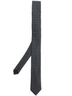жаккардовый галстук с логотипом Saint Laurent