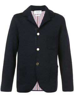 трикотажное пальто в стиле пиджака Thom Browne