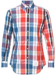 клетчатая рубашка Thom Browne