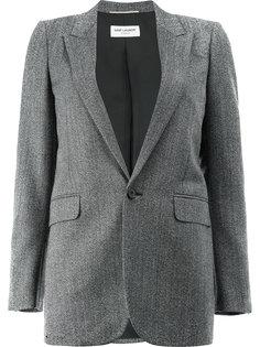 однобортный пиджак Saint Laurent