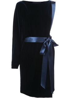 бархатное платье на одно плечо Alexandre Vauthier