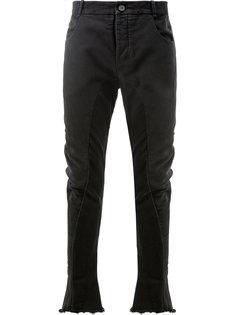 джинсы с эффектом потертости на манжетах Masnada