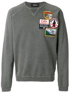 свитер с аппликацией Dsquared2