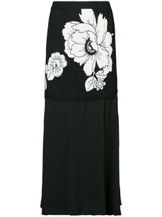 flower midi skirt Boutique Moschino