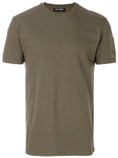 футболка с карманом на рукаве Neil Barrett