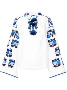 блузка с вышивкой и кисточками Vita Kin
