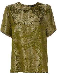 футболка с растительно-цветочным узором Etro