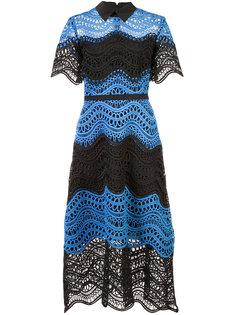 вязанное платье с расклешенной юбкой Lela Rose