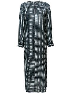 удлиненное платье с вышивкой Zero + Maria Cornejo