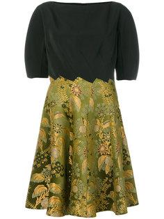 расклешенное платье с панелью с цветочным принтом Etro
