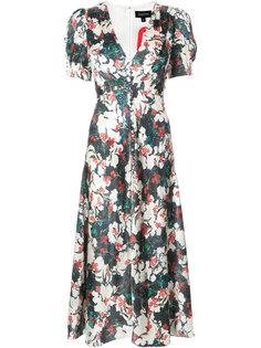 Lea V-neck midi dress Saloni