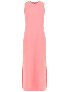 sleeveless crepe dress Egrey