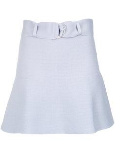 crepe short skirt Egrey