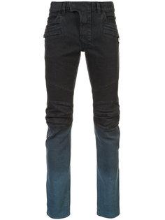 байкерские джинсы с градиентным эффектом Balmain