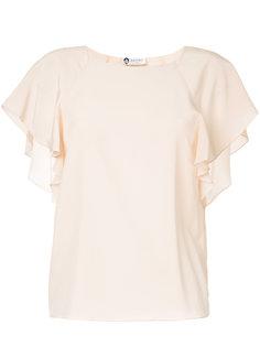 блузка с оборками на рукавах  Lanvin