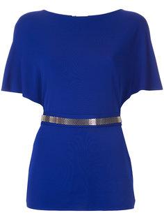 блузка с сетчатым поясом  Lanvin