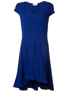 платье с V-образным вырезом Lanvin