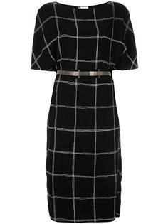 платье с вырезом-лодочкой  Lanvin