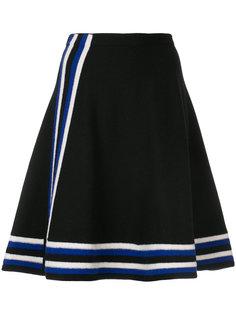 вязаная юбка А-образного силуэта в полоску Lanvin