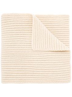 шарф ребристой вязки Lanvin