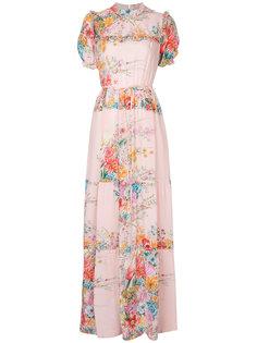 платье с цветочным рисунком и оборками Nº21