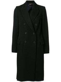классическое двубортное пальто  Odeeh