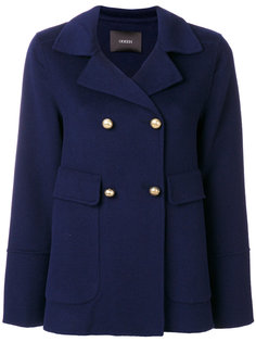 двубортное приталенное пальто  Odeeh