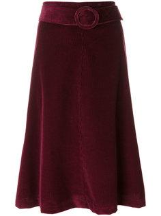 вельветовая юбка миди P.A.R.O.S.H.