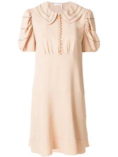 расклешенное платье с воротником  Chloé