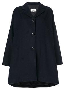 свободное пальто с закругленным краем  Mm6 Maison Margiela