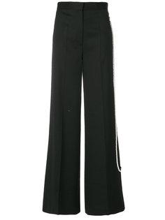 брюки-палаццо с жемчужной отделкой  Mm6 Maison Margiela