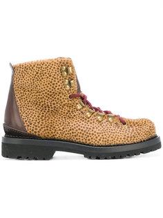 ботинки с леопардовым принтом Buttero