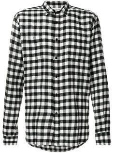 классическая клетчатая рубашка Saint Laurent