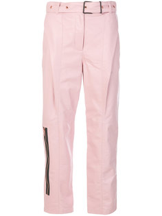 Leather Belted Straight Pant Proenza Schouler
